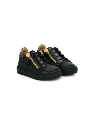 Giuseppe Junior low top sneakers met logo (zwart)