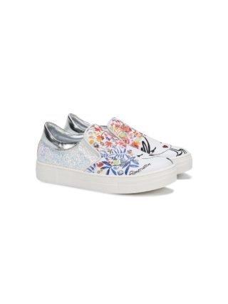 Simonetta schets print sneakers (wit)