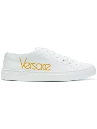 Versace sneakers met versierd logo (wit)