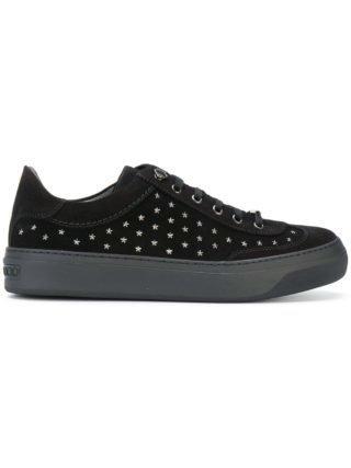 Jimmy Choo Aas met sterren studse sneakers (zwart)