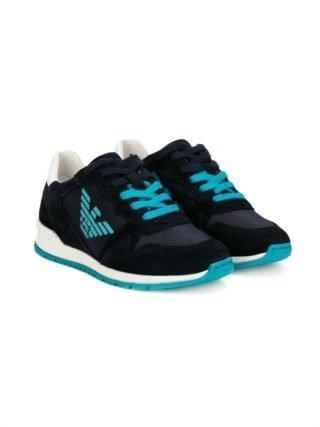 Emporio Armani Kids logo sneakers (blauw)