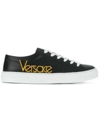 Versace sneakers met versierd logo (zwart)