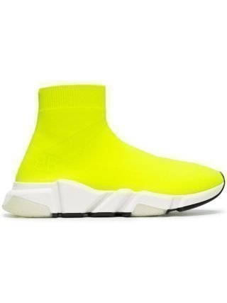 Balenciaga yellow Speed neon knitted sneakers (geel)