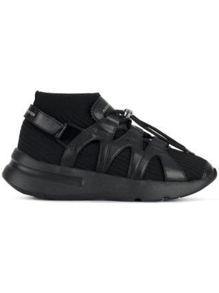 Alexander McQueen oversized zool sneakers - Zwart