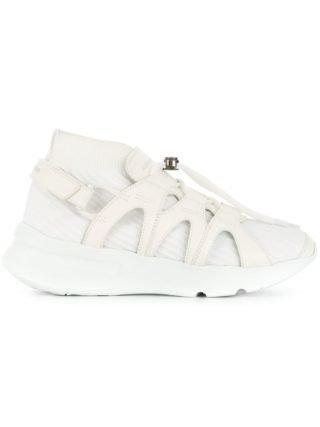 Alexander McQueen geperforeerde vetersneakers (wit)