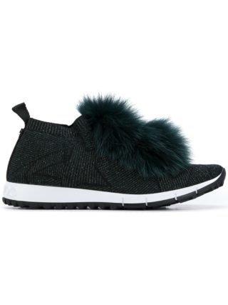 Jimmy Choo bont trim Noorwegen sneakers (zwart)