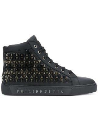 Philipp Plein hi-top sneakers met studs (zwart)