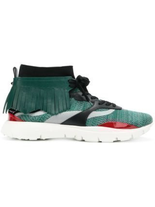 Valentino Heroes embroidered sneakers (groen)