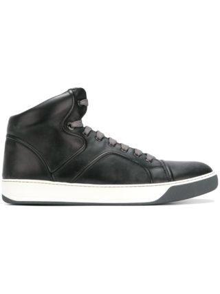 Lanvin hi-top sneakers met veters (zwart)