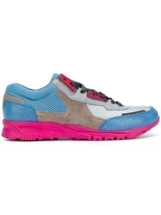 Lanvin color block hi-top sneakers (blauw)