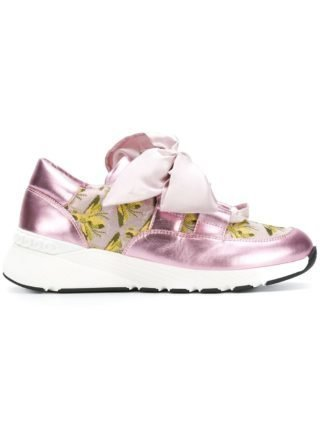 Casadei ribbon laced sneakers (roze)