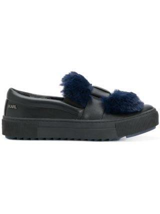 Karl Lagerfeld slip-on sneakers met vleermuismouwen (blauw)