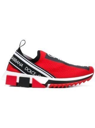 Dolce & Gabbana Branded Sorrento sneakers (rood)