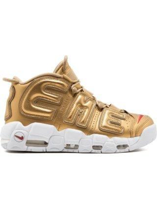 Supreme Air More Uptempo/ Nike x Supreme sneakers (zilver)