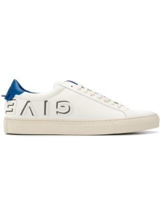 Givenchy white and blue Urban Street logo applique leather sneakers (wit)
