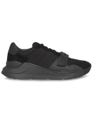 """Burberry """"Suede, neopreen en leren sneakers"""" (zwart)"""