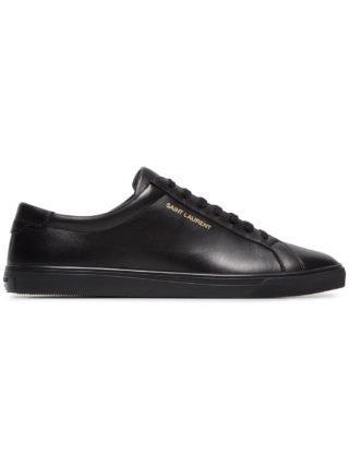 Saint Laurent Andy Lowtop sneakers van leer (zwart)