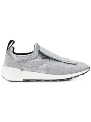 Sergio Rossi slip on sneakers (zilver)