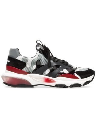 Valentino camo bounce sneakers - Grijs