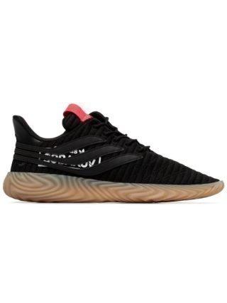 Adidas zwarte Sobakov Low-top sneakers van leer