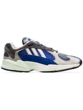 Adidas grijs blauwe Yung 1 sneakers van leer en suede