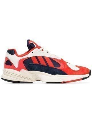 Adidas rode witte en zwarte yung 1 su�de en katoenen sneakers - Rood