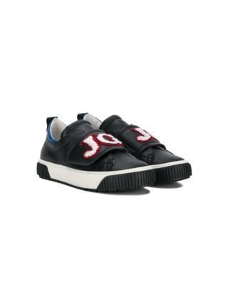 John Galliano Kids instap sneakers met logopatch (zwart)