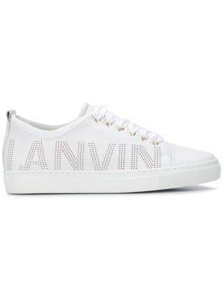 Lanvin logo embossed sneakers (wit)