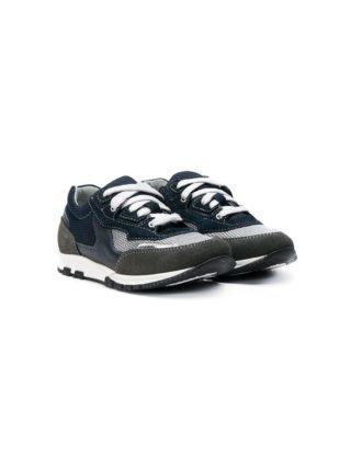 Lanvin Enfant Sneakers met vlakken (blauw)