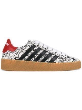 Dsquared2 251 graffiti sneakers (zwart)