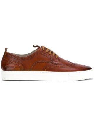 Grenson brogue sneakers (bruin)