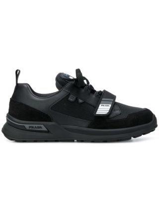 Prada vetersneakers (zwart)