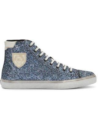 Saint Laurent Bedford glitter hi-top sneakers (blauw)