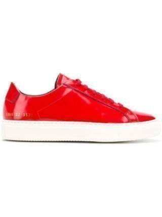 Common Projects Achilles contrast-sole sneakers (rood)