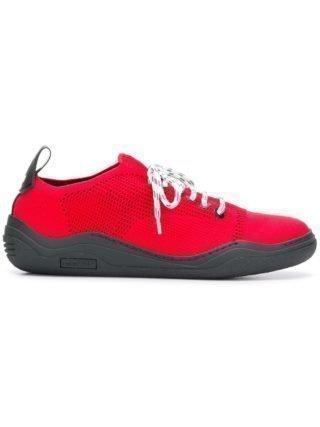 Lanvin functionele vastgemaakte sneakers (rood)