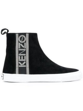 Kenzo logo high-tops (zwart)