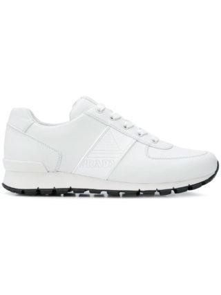 Prada sneakers met logo versierd (wit)