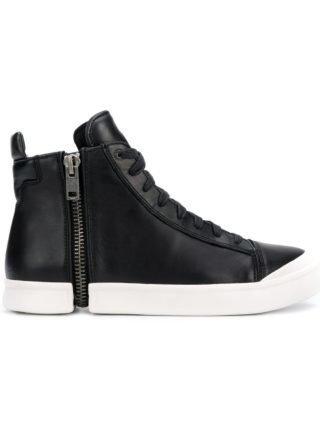 Diesel S-Nentish hoge sneakers - Zwart