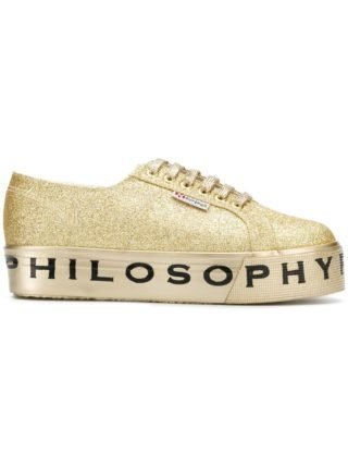 Philosophy Di Lorenzo Serafini Superga flatform glitter sneakers (zilver)