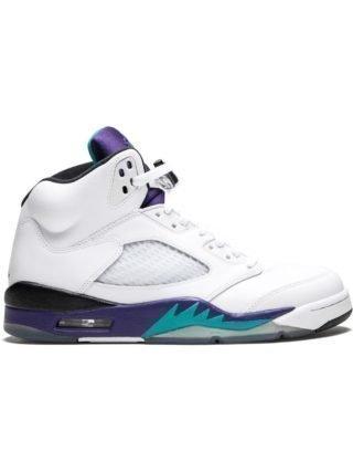 Jordan Air Jordan 5 Retro sneakers - White/New Emerald-Grp Ice-Blk