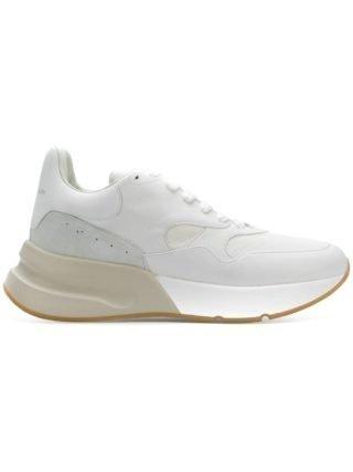 Alexander McQueen high platform sneakers (wit)