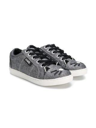 Karl Lagerfeld Kids kat teen sneakers (zilver)
