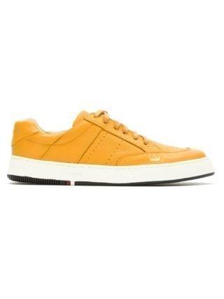Osklen leather panelled sneakers (geel)
