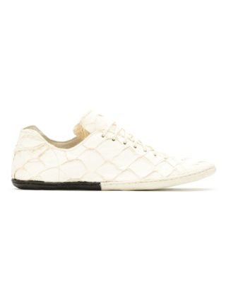 Osklen panelled Pirarucu sneakers (wit)