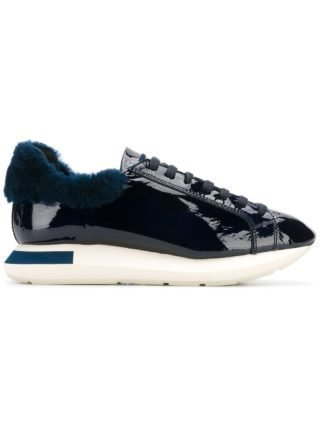 Manuel Barceló varnished lace-up sneakers (blauw)