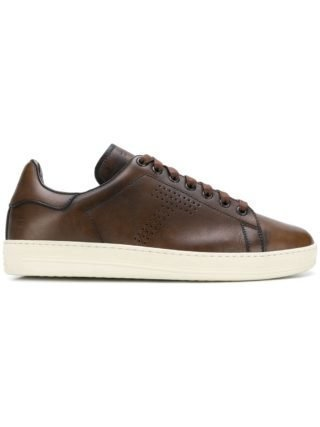 Tom Ford perforated T sneakers (bruin)