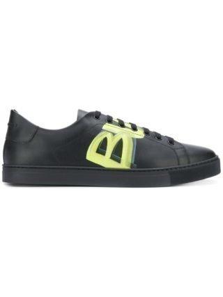 Burberry leren sneakers met logoprint (zwart)