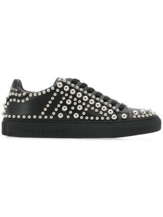 Philipp Plein low top sneakers met studs (zwart)