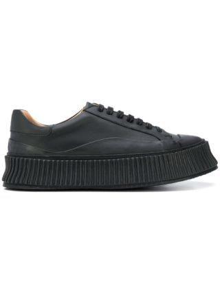 Jil Sander 45mm sneakers met plateauzool en veters (zwart)