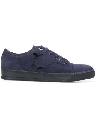 Lanvin geperforeerde sneakers met logo (blauw)